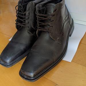 Ecco men goretex leather boots size 41